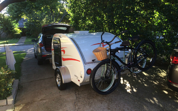 bike rack tear drop camper