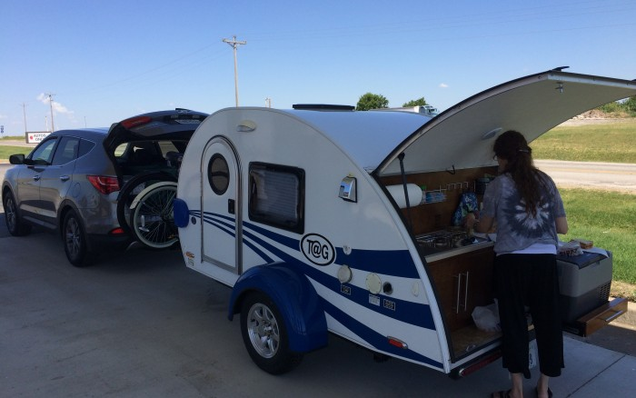 Hitch and Go Adventures rent a T@G max tear drop camper here with a TV and air conditioner